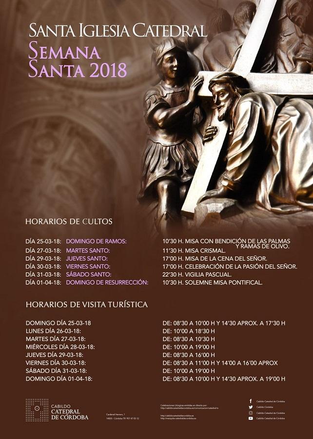 Horarios Culto y Turístico Catedral de Córdoba