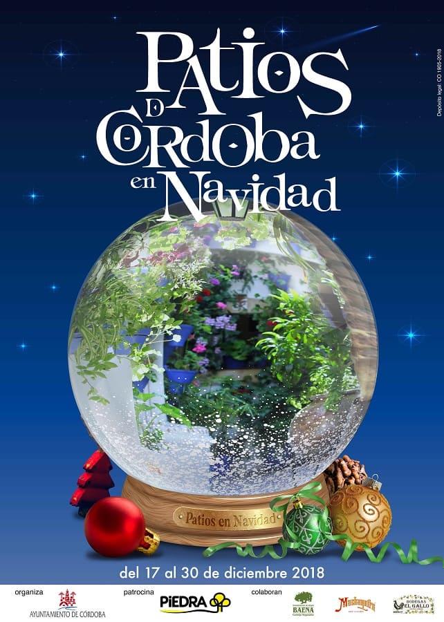 Cartel Patios Navidad Córdoba 2018