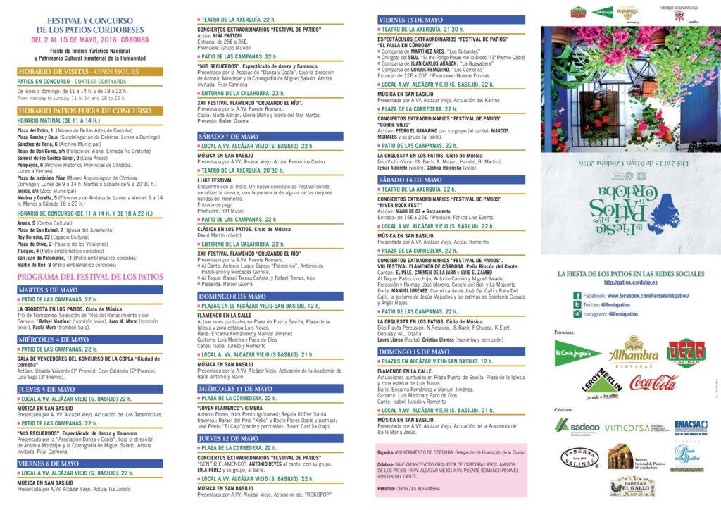 Programa Patios de Córdoba 2016