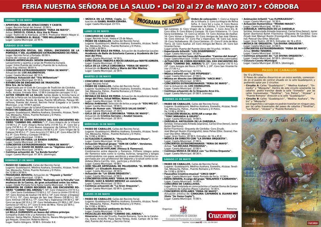 Programa Oficial de la Feria de Córdoba