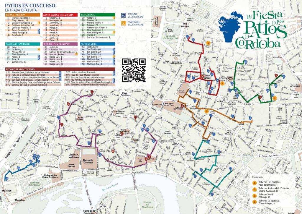 Plano de Los Patios de Córdoba 2018