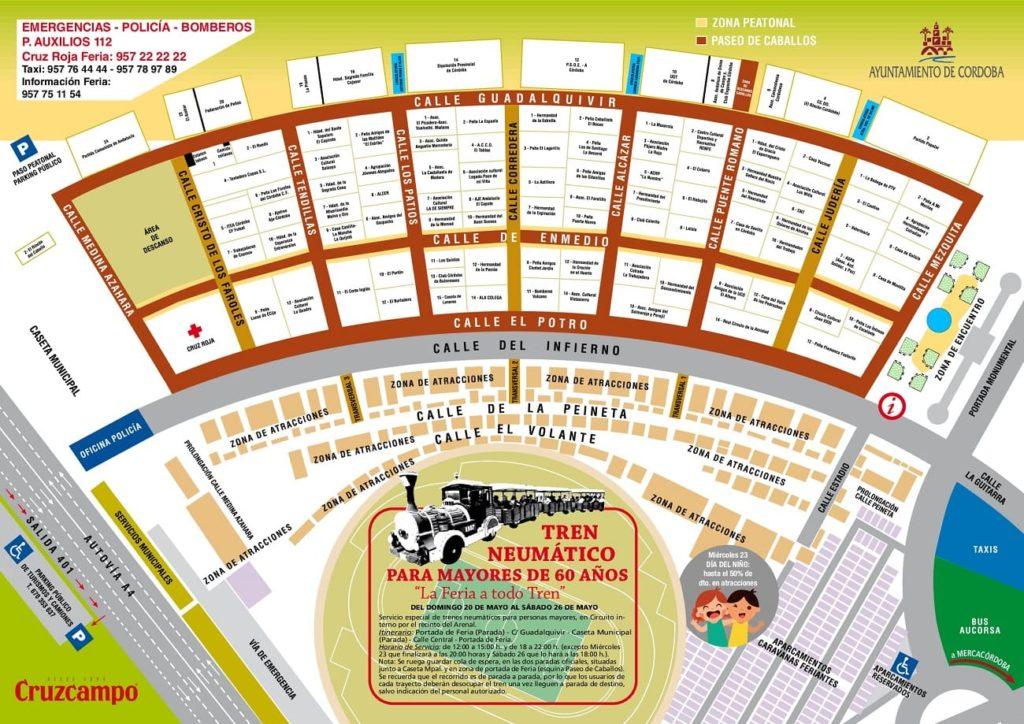 Plano Feria de Córdoba 2018