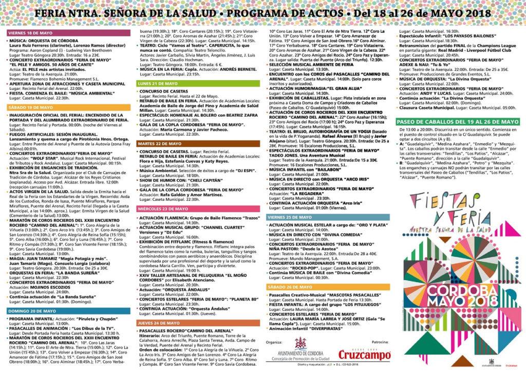 Programa Feria de Córdoba 2018