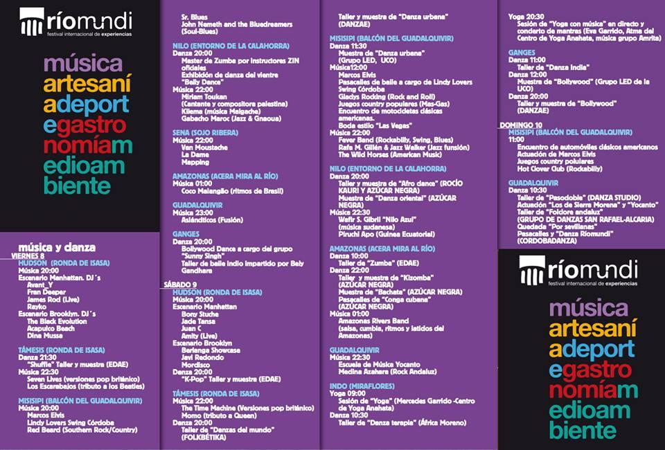 Programa actualizado Ríomundi 2018 Córdoba