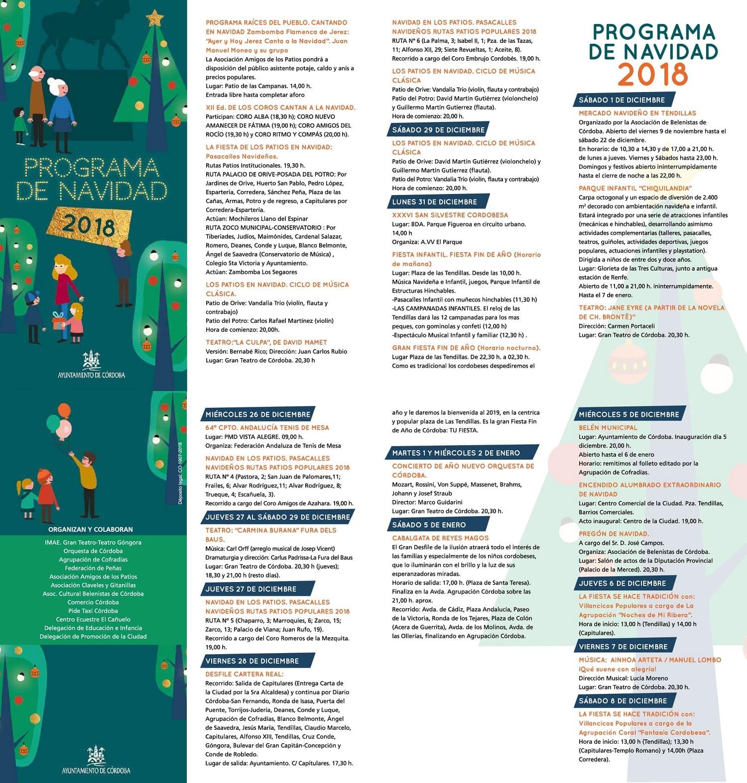 Programa Navidad de Córdoba 2018